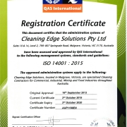 ISO Certification ISO14001:2015 Cleaning Edge