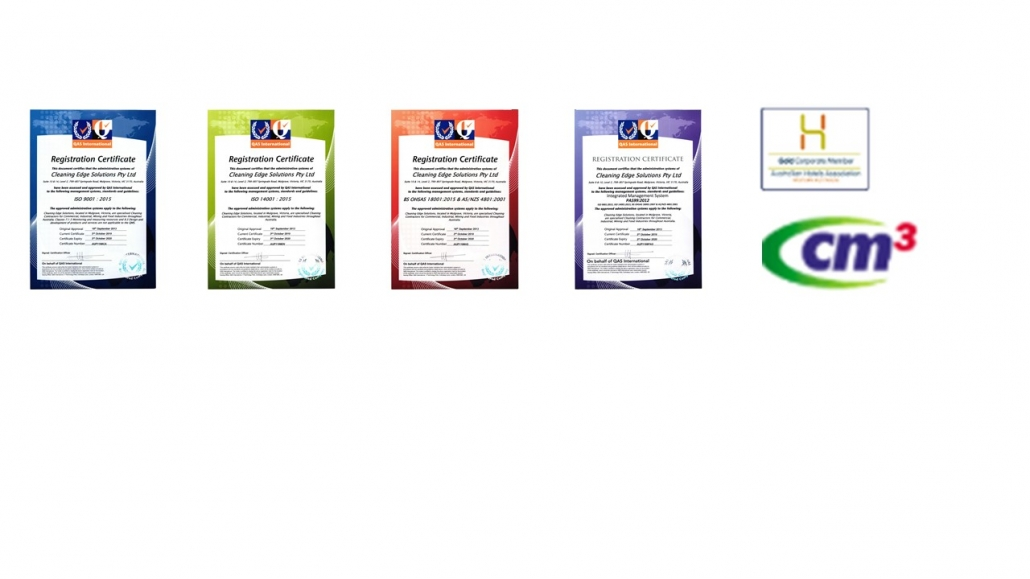 ISO certifications of Cleaning Edge Solutions