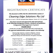 ISO Certification PAS99: 2012 Cleaning Edge